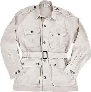 mens white safari jacket