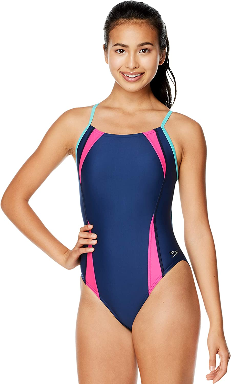 Speedo Alternative dealer Women's Swimsuit One Piece Prolt 2021 autumn and winter new Printed Flipback