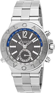 Bvlgari Diagono Professional GMT Grey Dial Automatic Mens Watch DG40C14SSDGMT