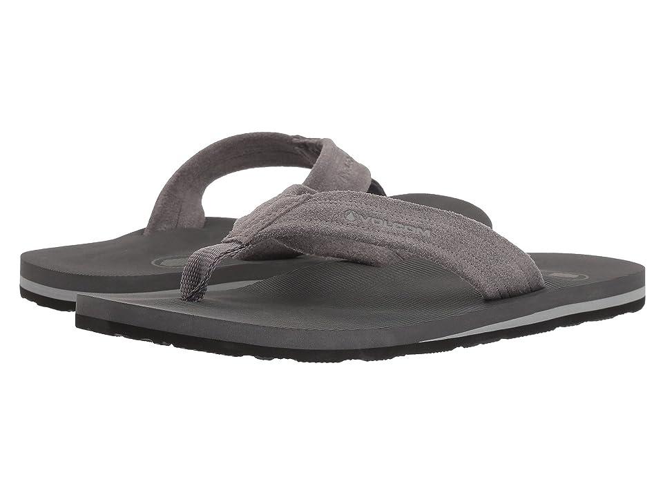 Volcom Driftin Leather Sandal (Neutral Grey) Men