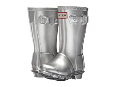 Hunter Kids Original Metallic Rain Boot (Toddler/Little Kid) (Silver) Kids Shoes