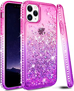 Ruky Case for iPhone 11 Pro Max Case, iPhone 11 Pro Max Glitter Case Bling Colorful Quicksand Series Soft TPU Liquid Floating Sparkle Diamond Girls Women Phone Case for iPhone 11 Pro Max (Pink Purple)