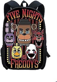 Five Nights at Freddys Mochila Niños 3D Impreso FNAF Mochila Escolar Bolsa de Viaje de Gran Capacidad Bolsa de Almuerzo Regalo de cumpleaños para niños Adolescentes