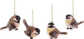 RAZ Imports Wintry Resin Chickadee Bird Ornaments - Set of 4