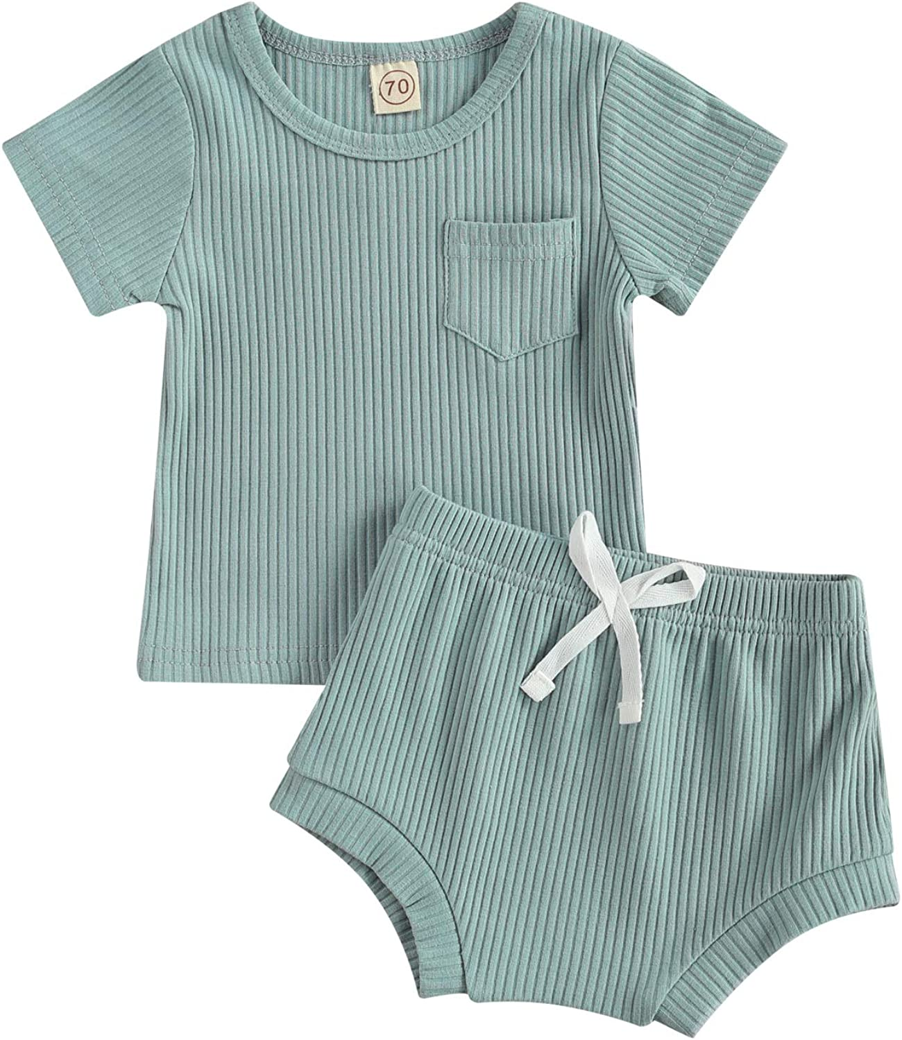 Infant Toddler Baby Boy Summer Outfit Short Sleeve Vest Tank Tops with Shorts Pants Set 2Pcs Clothes Set