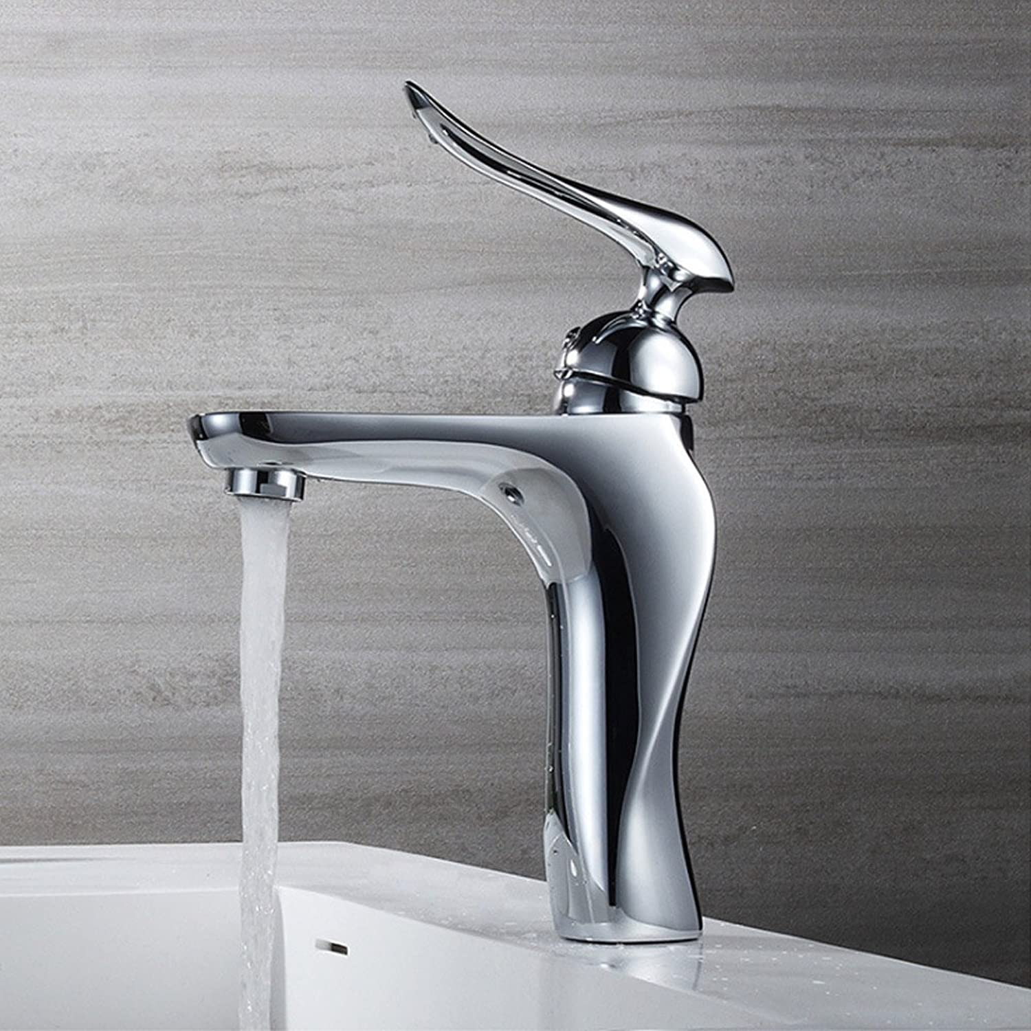 Aawang New Styling Brass Basin Deck Mount Bathroom Faucets Vanity Vessel Sinks Mixer Tap Chrome