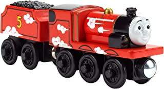 Fisher-Price Thomas & Friends Wooden Railway, Roll and Whistle James - Battery Operated