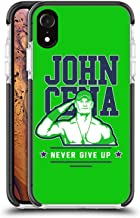 Official WWE John Cena Never Give Up 2 2018/19 Superstars 4 Black Shockproof Gel Bumper Case for iPhone XR