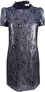 Michael Kors Women's Petite Sequined Lace Shift Dress