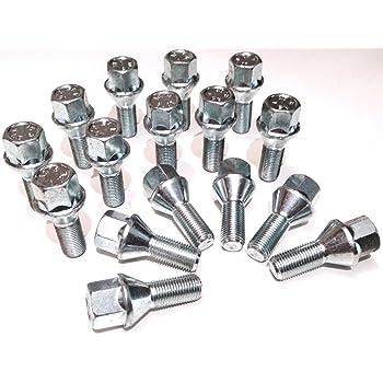 taper seat x 4 Car wheel bolts nuts lugs M12 x 1.5 M12x1.5 19mm Hex