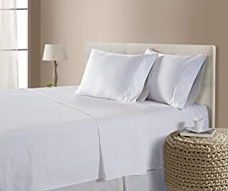 CHATEAU HOME COLLECTION Luxury 800-Thread-Count 100% Egyptian Cotton Bed Sheets, 4 Pc Cal King - White Sheet Set, Single Ply Long-Staple Yarns, Sateen Weave, Fits Mattress Upto 18'' Deep Pocket