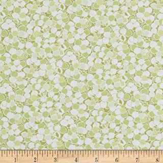In The Beginning Fabrics Garden Delights II Puffs Fabric, Green, Fabric By The Yard