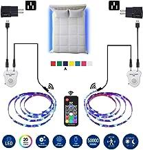 LED Strip Lights, Topled 6.56ft Bed Light LED Strip with Motion Sensor RGB LED Light Strip, 5050 LED Tape Lights, Color Ch...