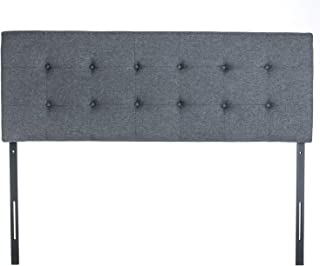 QZhommer Faux Linen Upholstered Full/Queen Size Headboard in Grey