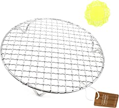 """Turbokey Steaming Racks Dia 11.6"""" Round Barbecue Grids Cross Wire Footed Steaming Stainless Steel Cooling Rack with Legs M..."""