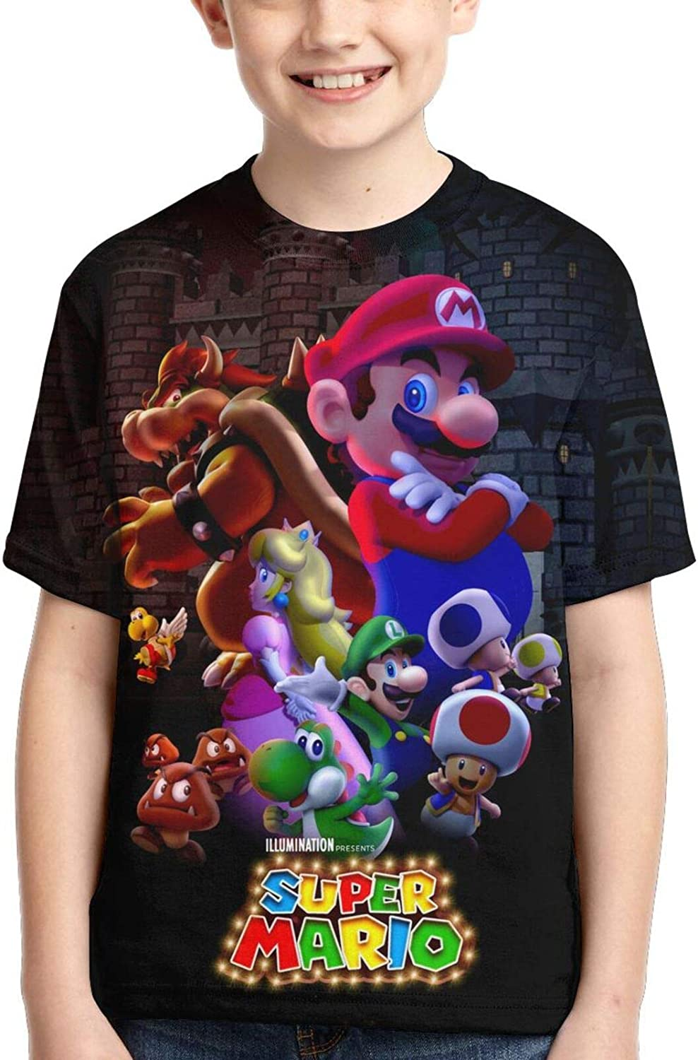 Super Mario Bros kids t-shirt for boys and girls short sleeve 3D printing gift