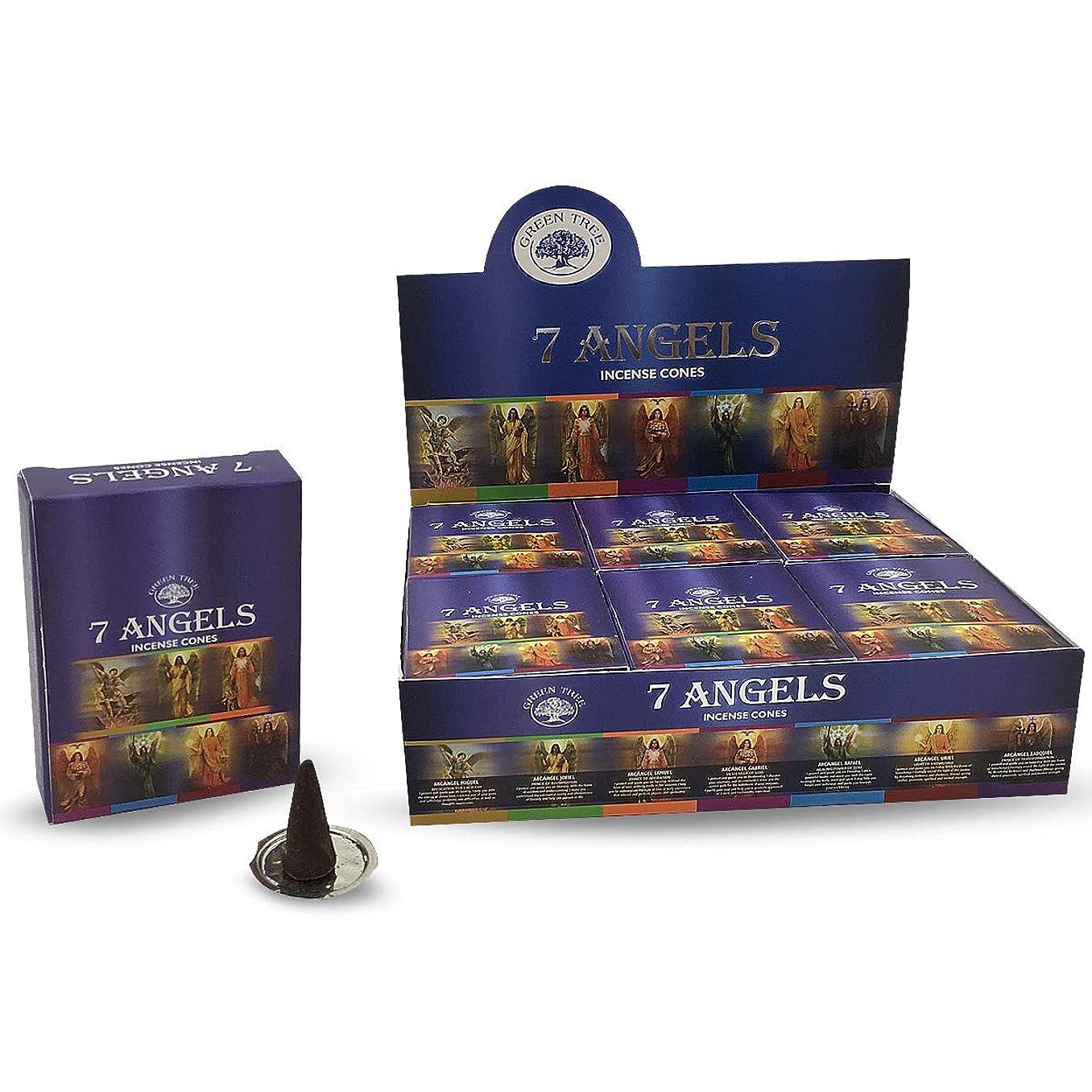 支払うテンポメイエラグリーンツリー7?Angels自然Masala Incense Cones 12ボックスof 10