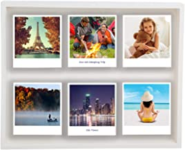 """Polaroid Photo Shadow Box Magnetic 12 x 10"""" Picture Frame Holds 6 Photographs Living Room Home Decor"""