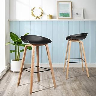 FurnitureR Juego de 2 sillas Eames Bar Asiento cómodo y Alt