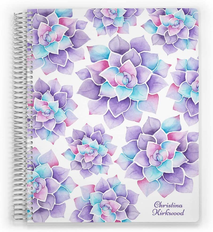 Personalized Mom Planner Max 62% Gorgeous OFF 2021 Watercolor Dated Fully Succulent