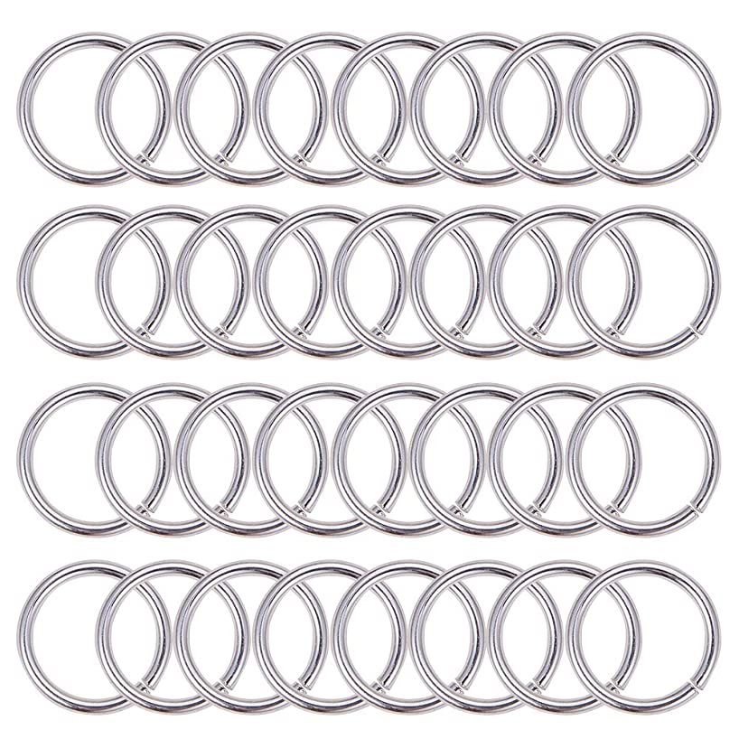 PH PandaHall About 200pcs 18mm Silver Aluminum Jump Rings Open Jump Rings Connectors for Choker Necklaces Bracelet Chain Maille Jewelry Making