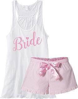 Bride Pajama Short Set - Pink Seersucker