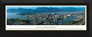 Vancouver, British Columbia - Blakeway Panoramas Print with Deluxe Frame & Double Mat