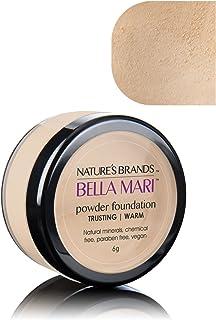 Bella Mari Natural Mineral Powder Foundation, Trusting (Warm); 0.2oz