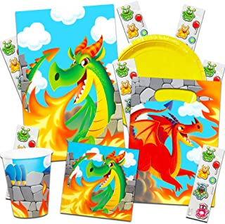 Dragons Party Supplies Ultimate Set ~ Birthday Party Decorations, Party Favors, Plates, Cups, Napkins and More (Dragon Party Supplies)