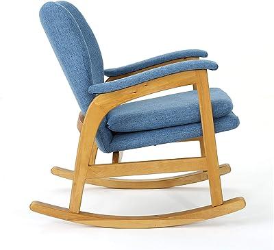 Fabulous Amazon Com Linon Woodstock Rocking Chair Teak Kitchen Ibusinesslaw Wood Chair Design Ideas Ibusinesslaworg