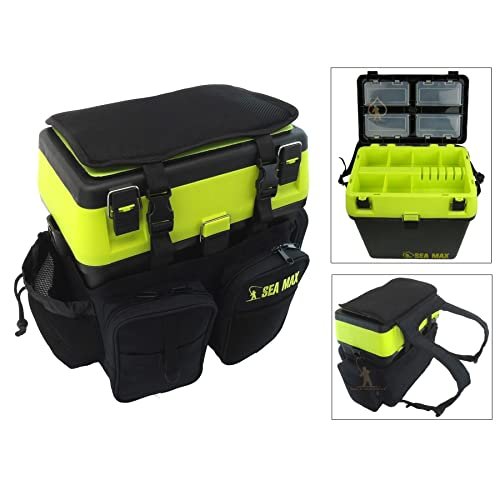 SEA MAX© Seat Box & Rucksack. Tackle Seat Box. Sea Fishing Seat Box.