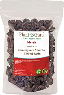 Myrrh Resin 1lb 100% Pure Natural Commiphora Myrrha Aromatic Rock Incense Gum Bulk