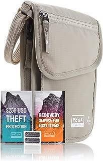 Neck Wallet & Hidden Passport Holder - RFID w/Theft Insurance and Lost & Found Service