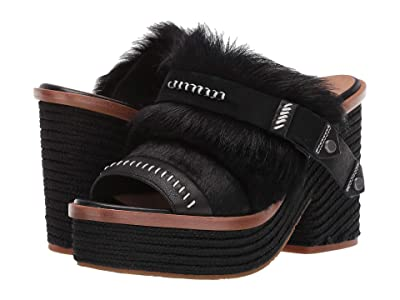 UGG Fluff Punk Heel (Black) Women