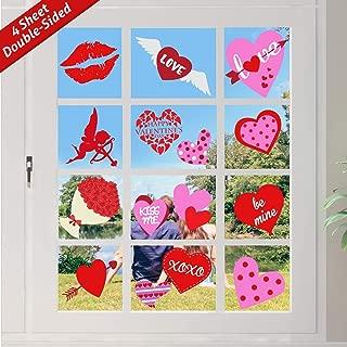 valentine window decals