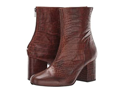 Free People Croc Cecile Ankle Boot (Chocolate) Women
