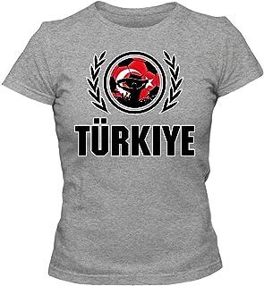 Turquía Campeonato de Europa 2016#2 Camiseta | Mujer | Fútbol | T-Shirt | Jersey | Ay-Yildizlilar | Equipo Nacional