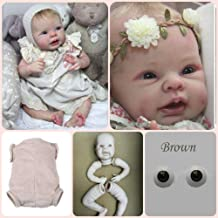 Solid Silicone Kits DIY bebe Reborn Baby Doll Kits 22/'/' Unpainted Parts Handmade
