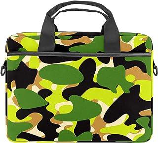 nakw88 Laptoptasche / Aktentasche aus Segeltuch, 13,3 - 14,5 Zoll 34 - 36,8 cm, Camouflage-Grün