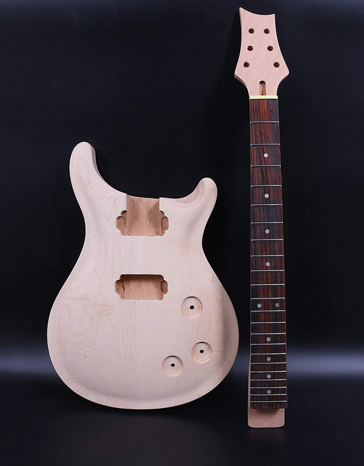 1set guitar kit Max 56% OFF Unfinished Guitar neck inch 24.75 New sales Do 22fret Body