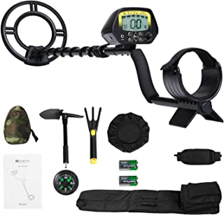 MARNUR Metal Detector for Kids and Adults with Pinpoint Waterproof Search Coil Backlit..