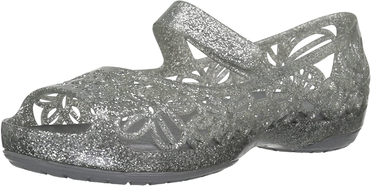 Crocs Kids' Girls Isabella Glitter Max 89% OFF Flat Pre School Jelly Our shop OFFers the best service