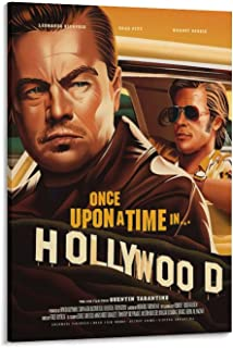 NIUASH Once Upon A Time in Hollywood Movie Posters YQ36 Poster Decorative Painting Canvas Wall Art Living Room Posters Bed...