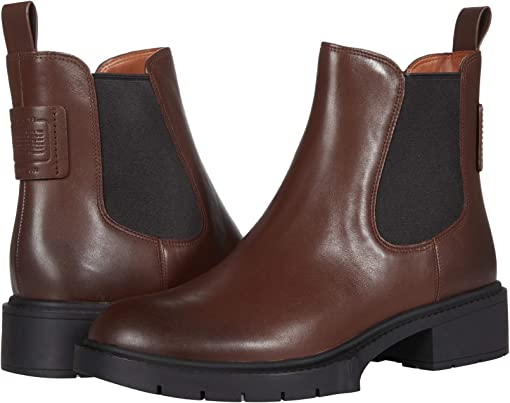 COACH Lyden Leather Bootie,Walnut
