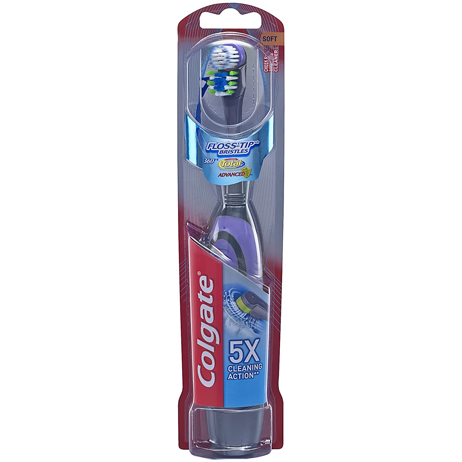 Max 70% OFF Colgate Classic Total Advanced Floss-Tip Toothbrush Battery Powered Sof