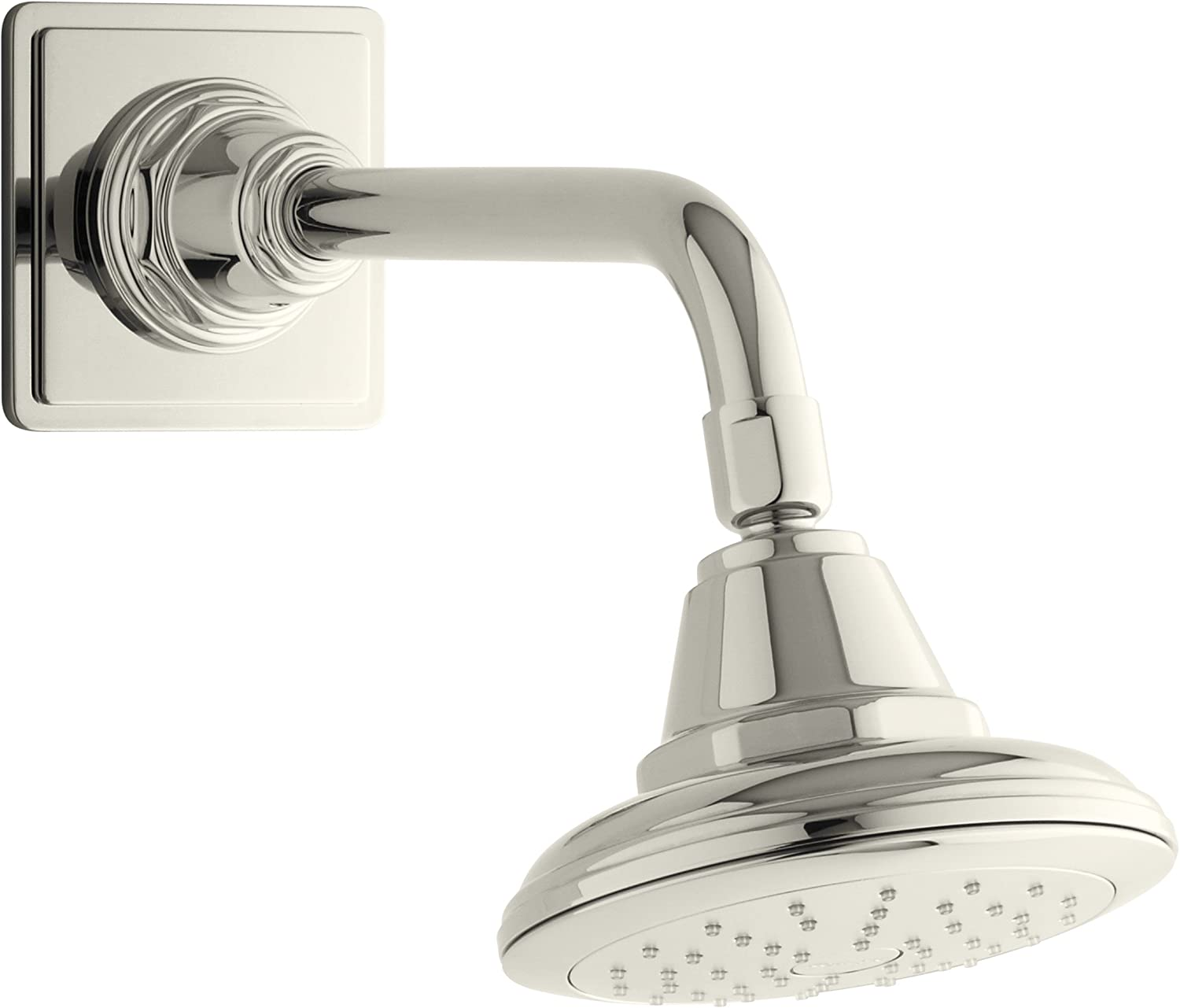 Kohler K-45417 Pinstripe 2.0 Gpm Single Function Shower Head, Less Arm And Escutcheon With Kata, Vibrant Polished Nickel