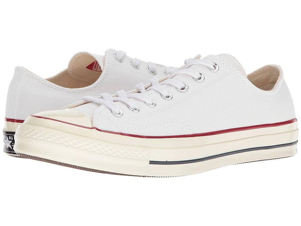 Converse Chuck Taylor(r) All Star(r) '70 Ox (White/Garnet/Egret) Athletic Shoes