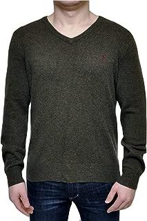 RALPH LAUREN Polo 100% Lambs Wool V-Neck Sweater Mens