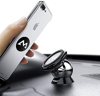 マグネット式車載ホルダー スマホスタンド Mpow スマホ タブレット車載ホルダー ダッシュボードに取り付け 360度回転 iPhone XS/XS MAX/XR/8/8 plus/6/6S/Sonyなど多機種対応 【18ヶ月国内保障】 ブラック MCM18
