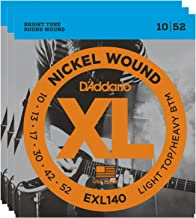 3 Sets of D'Addario EXL140 Nickel Wound Electric Guitar Strings, Light Top/Heavy